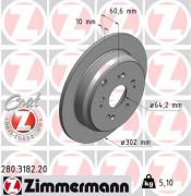 Тормозной диск ZIMMERMANN 280.3182.20