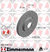 Тормозной диск ZIMMERMANN 280.3187.52