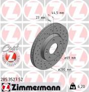 Тормозной диск ZIMMERMANN 285.3527.52