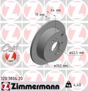 Тормозной диск ZIMMERMANN 320.3804.20