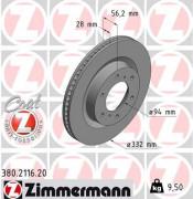 Гальмівний диск ZIMMERMANN 380.2116.20