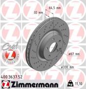 Гальмівний диск ZIMMERMANN 400.3637.52