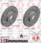 Тормозной диск ZIMMERMANN 400.3637.53