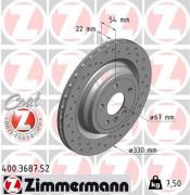 Тормозной диск ZIMMERMANN 400.3687.52