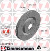 Гальмівний диск ZIMMERMANN 400.3698.20