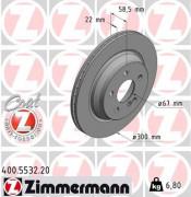 Тормозной диск ZIMMERMANN 400.5532.20