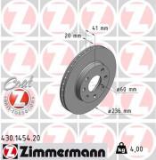 Тормозной диск ZIMMERMANN 430.1454.20