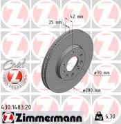 Тормозной диск ZIMMERMANN 430.1483.20