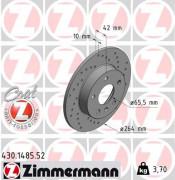 Гальмівний диск ZIMMERMANN 430.1485.20
