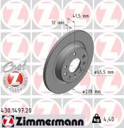 Гальмівний диск ZIMMERMANN 430.1497.20