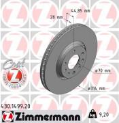 Тормозной диск ZIMMERMANN 430.1499.20