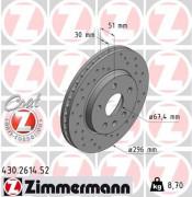 Тормозной диск ZIMMERMANN 430.2614.52