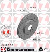 Тормозной диск ZIMMERMANN 430.2621.52