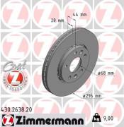Тормозной диск ZIMMERMANN 430.2638.20