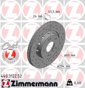 Гальмівний диск ZIMMERMANN 440.3122.52