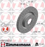 Тормозной диск ZIMMERMANN 450.5202.52