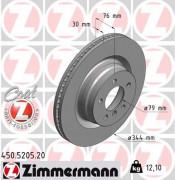 Тормозной диск ZIMMERMANN 450.5205.20