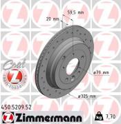 Тормозной диск ZIMMERMANN 450.5209.52