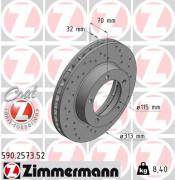Тормозной диск ZIMMERMANN 590.2573.52