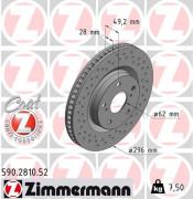 Тормозной диск ZIMMERMANN 590.2810.52
