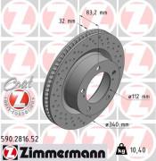 Тормозной диск ZIMMERMANN 590.2816.52
