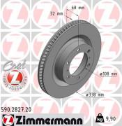 Тормозной диск ZIMMERMANN 590.2827.20