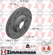 Тормозной диск ZIMMERMANN 600.3226.54