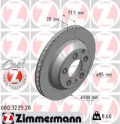 Гальмівний диск ZIMMERMANN 600.3229.20