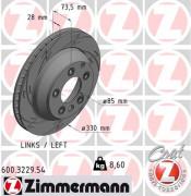 Тормозной диск ZIMMERMANN 600.3229.54