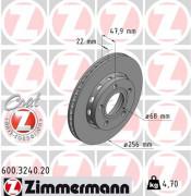 Гальмівний диск ZIMMERMANN 600.3240.20