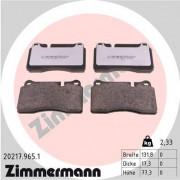 Тормозные колодки ZIMMERMANN 20217.965.1