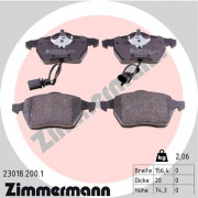 Тормозные колодки ZIMMERMANN 23018.200.1