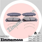 Гальмівні колодки ZIMMERMANN 24452.175.2