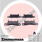 Гальмівні колодки ZIMMERMANN 24721.170.1