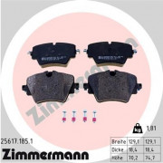 Тормозные колодки ZIMMERMANN 25617.185.1