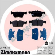 Тормозные колодки ZIMMERMANN 25798.155.1