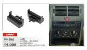Переходная рамка Carav 11-005 Audi A2 2000+, A3 2000, A4 1999-2001, A6 1997-2000, A6 2003-2004, 1 DIN