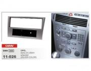 Carav Переходная рамка Carav 11-026 Opel Astra H (2004-2010), Corsa (D) 2006+, Antara, Zafira (B) 2005+ w/pocket (silver color), 1 DIN