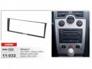 Переходная рамка Carav 11-032 Renault Megane (2003-2009), Clio (2005+), Scenic (2004-2009), Modus (2004+), 1 DIN