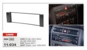 Переходная рамка Carav 11-034 Audi A3 (8L) 2001-2003, A6 (4B) 2000-2001, Seat Toledo, Leon 1999-2005, Fiat Scudo 2007+, 1 DIN