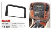 Переходная рамка Carav 11-078 Lexus LX-470 (1998 - 2002), Toyota LC100 (1998 - 2003), 2 DIN