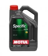 Motul Моторное масло Motul Specific CNG/LPG 5W-40