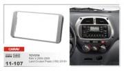 Переходная рамка Carav 11-107 Toyota RAV4 (2000 - 2005), Land Cruiser Prado 150 (2010+), 2 DIN