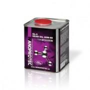 Минеральное трансмиссионное масло Nanoprotec GEAR Oil 80W-90 GL-5