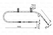 Трос стояночного (ручного) тормоза BOSCH 1987477242