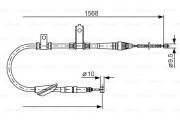 Трос стояночного (ручного) тормоза BOSCH 1987477790