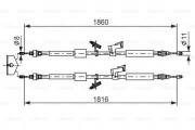 Трос стояночного (ручного) тормоза BOSCH 1987482189