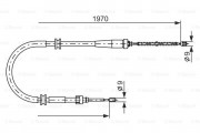 Трос стояночного (ручного) тормоза BOSCH 1987482253