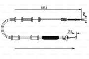 Трос стояночного (ручного) тормоза BOSCH 1987482593