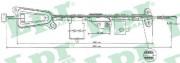 Трос стояночного (ручного) тормоза LPR C0481B
